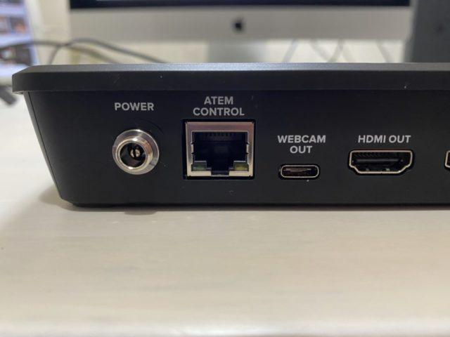 Blackmagic Design ATEM Mini電源コネクタ、イーサネット、USB-C出力、HDMI出力