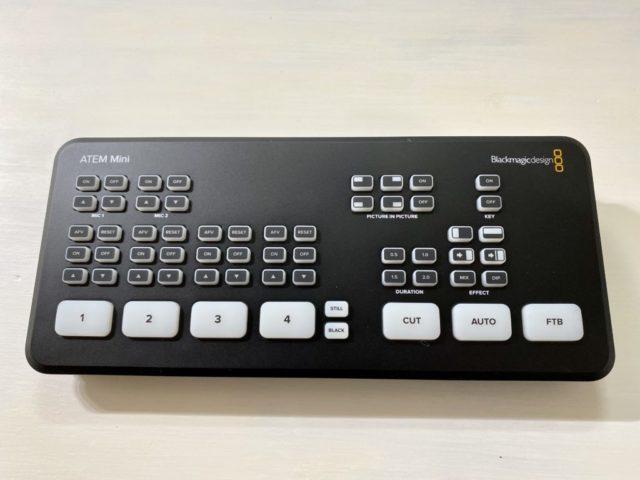 Blackmagic Design ATEM Miniスイッチ類の配置とデザイン