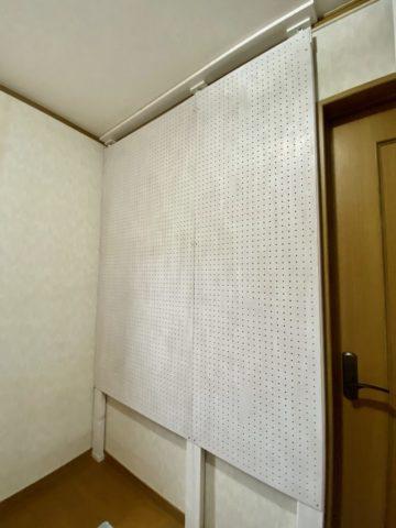 レイアウトフリー有孔ボードの壁