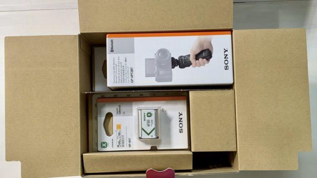 SONY VLOGCAM ZV-1 シューティンググリップキットパッケージ開封