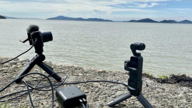 ZV-1で海辺でタイムラプス動画を撮影