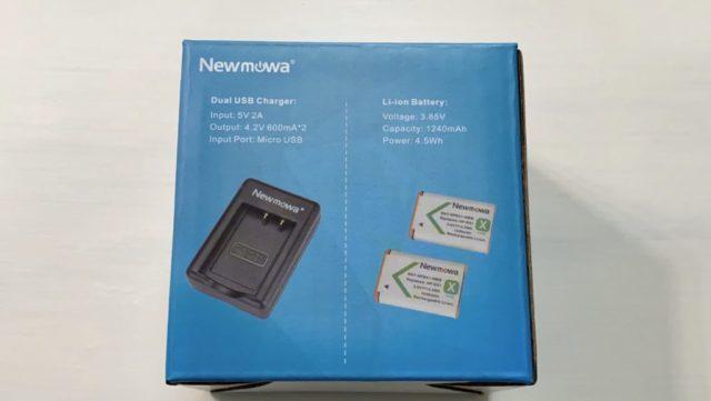 Newmowa NP-BX1 充電器キットバッケージ裏